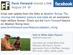 Farm Forward FB post