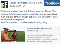 Farm Forward FB post